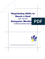 Fasset Negotiating Skills to Reach a Deal 2012 Workbook