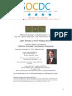 SOCDC December 2014 Newsletter
