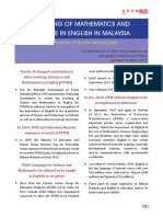 Teaching of Mathematics and Science in English in Malayisa