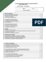 Ficha de Observación de Factores Que Intervienen en El Desenvolvimiento de Las Pruebas o Test.