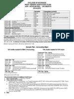 Acct Major Planning Sheet 14-15