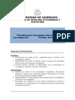 Planificación Estratégica Del Área de Investigación FMVZ 2015-2017