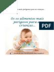 10 Alimentos Perigosos Para criança