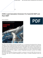 HVAC Load Calculation Extension for AutoCAD MEP and Revit MEP