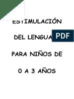 Cuaderno de Estimulación del Lenguaje