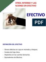 El Control Interno y Las Operaciones en Efectivo