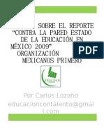 Diapositivas Resumen Mexicanos Primero 2009