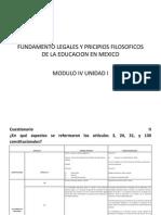 Fundamento Legales y Pricipios Filosoficos de La Educacion