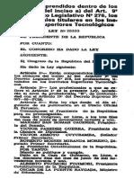 Ley 25333, para los Profesionales Titulados en los Institutos Superiores Tecnológicos.