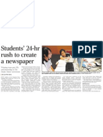 Students' 24-hr rush to create a newspaper, 19 Nov 2009, Straits Times