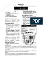 San Beda 2011 Remedial Law (Evidence)