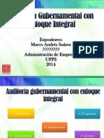 Auditoría Gubernamental Con Enfoque Integral