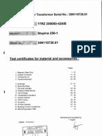 Test Certificates 30N110720.01