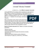 Origin of Maximum Velocity Formulae Rev. 11