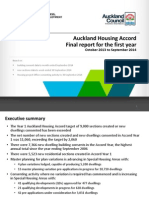Auckland Housing Accord Monitoring Report 2014