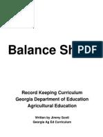 recordkeeping curriculum balance sheet