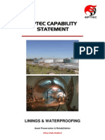 Capability Statement Linings and Waterproofing 2012 Rev.1