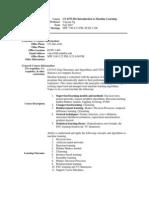 UT Dallas Syllabus for cs4375.501.07f taught by Yu Chung Ng (ycn041000)