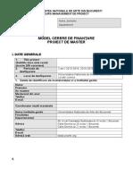 Model Cerere de Finantare Curs 2014