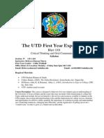 UT Dallas Syllabus for rhet1101.037.07f taught by Rebecca Duncan (rld034000)