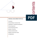 Professional Development Portfolio Guidance