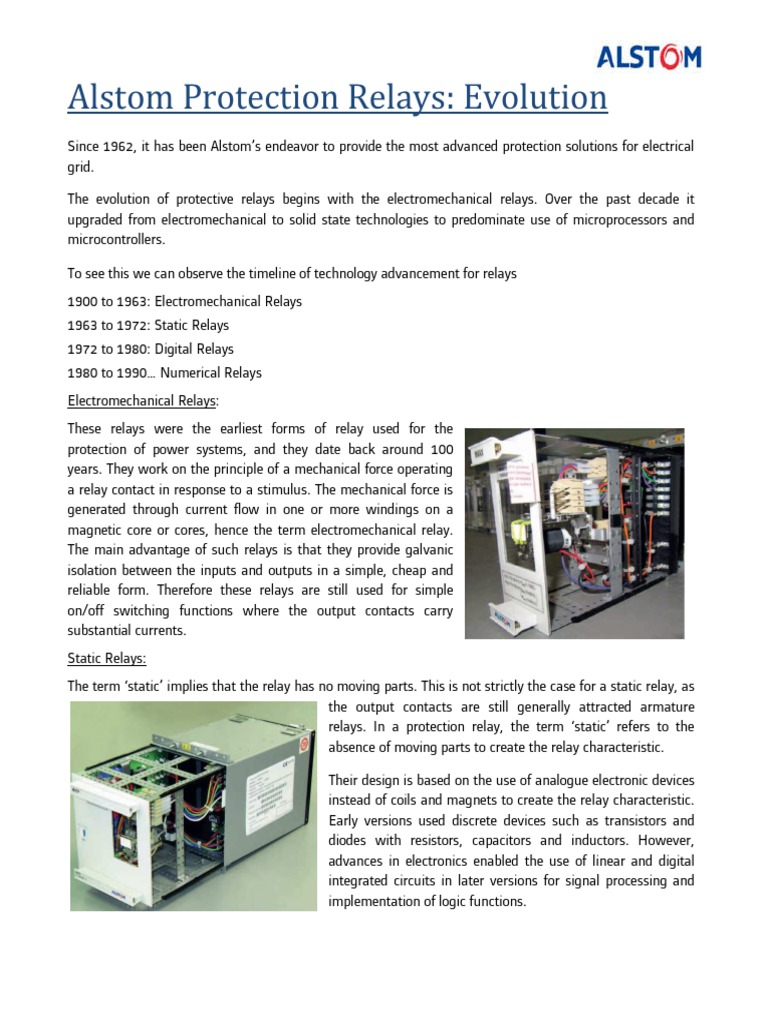 Evolution Of Protection Relays From Alstom Digital Signal Linear And Integrated Circuits Processing Relay