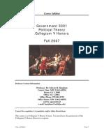 UT Dallas Syllabus for govt3301.001.07f taught by Edward Harpham (harpham)