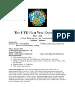 UT Dallas Syllabus for rhet1101.024.07f taught by Cynthia Jenkins (cdk018200)