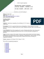 UT Dallas Syllabus for cs6363.002.07f taught by Ramaswamy Chandrasekaran (chandra)