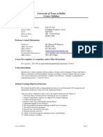 UT Dallas Syllabus for cs1337.501.07f taught by Herman Harrison (hxh017200)