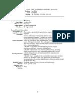 UT Dallas Syllabus for biol1318.001.07f taught by Lee Bulla (bulla)