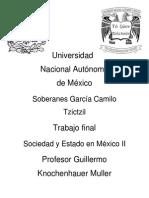 Trabajo Final, Sociedad y Edo en México II, Camilo Tzictzil Soberanes