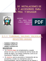 CONTROL  DE  INSTALACIONES DE  TUBERIAS  Y  ACCESORIOS  PARA.ppt