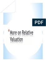 More on Relative Valuation