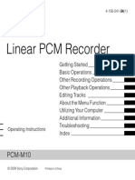 Sony PCM Recoder Mnaaual