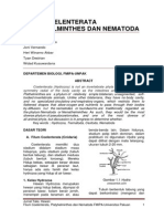 FILUM COELENTERATA, PLATYHELMINTHES DAN NEMATODA