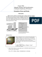 Deformation Stress and Strain Notes