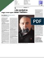 Impreso -Entrevista a  Ícaro Moyano, Periodista experto en medios sociales