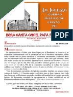 HORA SANTA CON EL PAPA. LA IGLESIA; CUERPO MÍSTICO DE CRISTO (9)