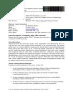 UT Dallas Syllabus for ecs3361.501.07f taught by   (rgm071000)