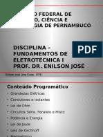 Fundamentos de Eletrotécnica I - Prof. Dr. Enilson José