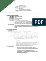 UT Dallas Syllabus for chem3472.001.07f taught by Lynn Melton (melton)