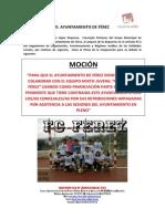 Moción de Izquierda Unida para que se donen mil euros Al FC Férez