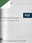 Milner, Jean-Claude - El Amor Por La Lengua - Ed. Nueva Imagen