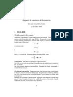 Appunti di Struttura della Materia - Principi