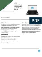 HP250 Notebook Datasheet