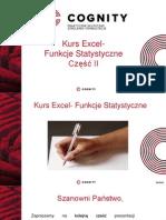 Kurs Excel- Funkcje Statystyczne Czesc 2