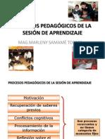 Procesos Pedagógicos de La Sesión de Aprendizaje