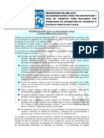 Guia de Trámites Para Reclamos Inscripcion Online 2015