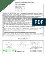 Matemática - Funcao Quadratica - Problemas Sobre Vertice e Esboco Do Grafico